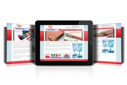 Corporación Rosario, Diseño del sitio web