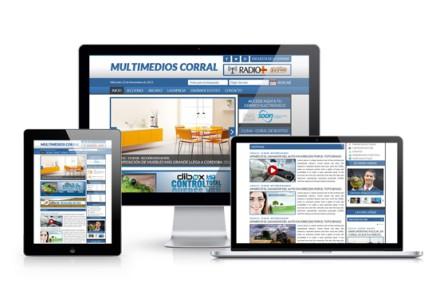 Multimedios Corral. Diseño de Portal Web - Rosario - Argentina