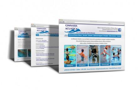 Gimnasia Acuática. Diseño de sitio web institucional de escuela de natación