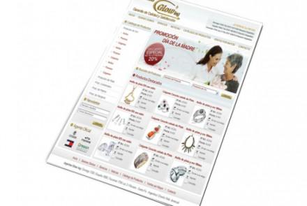 Joyerías Glowing - Diseño de Catálogo Web de Joyería