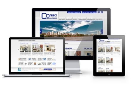 corso inmobiliaria Diseño web