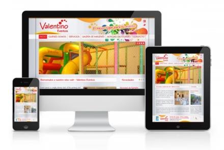 Valentino Eventos - Diseño Web para Salón de Fiestas